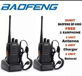 Paket 2 unit radio ht baofeng bf 888S