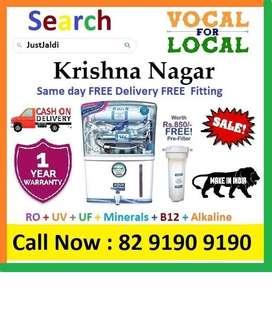 Krishna Nagar AquaGrand RO + UV+UF+Minerals+ B12+ Vitamins 12L  Book N