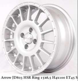 ARROW JD803 HSR R15X65 H4x100 ET45 SILVER