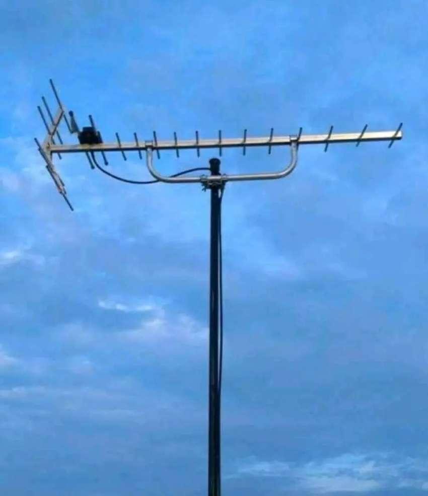 pemasangan antena tv yagi U-19 digital 0
