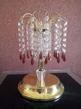1 pasang Lampu duduk kristal Swarovski mewah