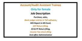 Account / Audit  Assistant Trainee