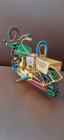 Handcrafted Aluminium Wire woven Object (Bike, bicycle, Rikshaw)