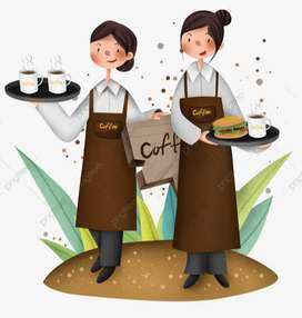 Server in company cafe