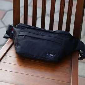 NAMA Lite 150 Waist sling bag hitam Black tas selempang pria wanita