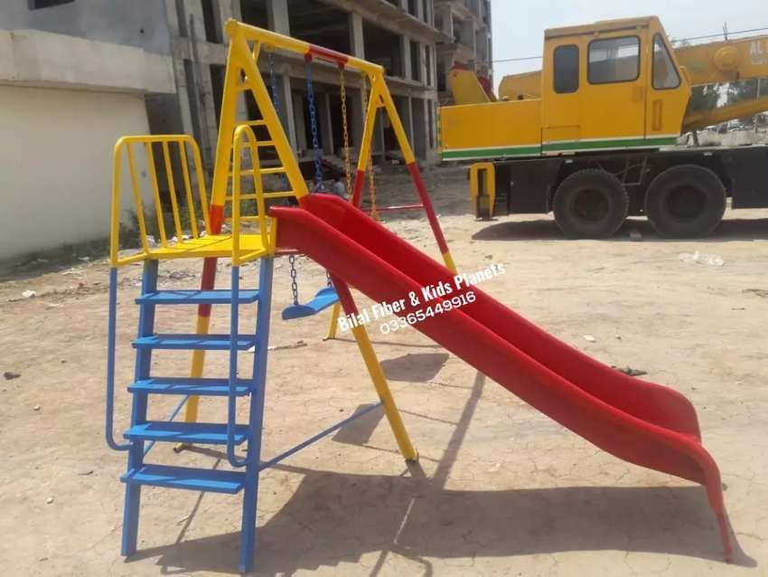 Kids slides with attached swings 0