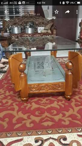 Custom made  Pure teak wood coffee table