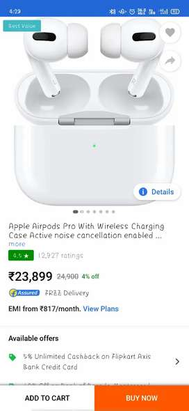 Apple airpods pro seal pack only at Rs 6000