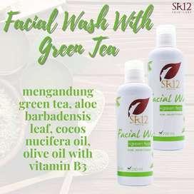 Bisa COD! Facial Wash With Green Tea 100ml