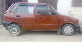Mehran VX, Charri Red, Model 1990, Genuine front