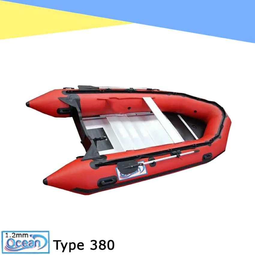 Perahu karet rescue OCEAN 3.8 mtr 6-7 orang PVC 1.2 mm almunium floor