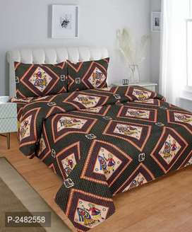 Polycotton priented double bedsheets