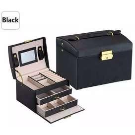 DINIWELL Kotak Penyimpanan Perhiasan 3 Layer - C468 - Black