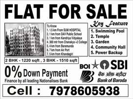 3 BHK Flats available near Sum Hospital in Ready to Move condition