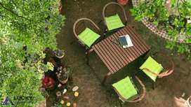 Garden Table Set Aluminum WIth Chairs.