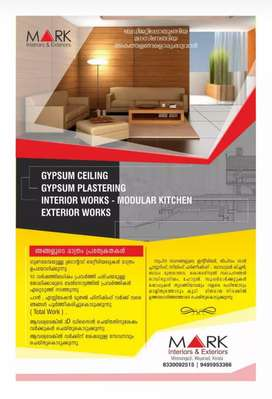 Gypsum ceiling and Moduler kitchen,and all kinds of Interior works