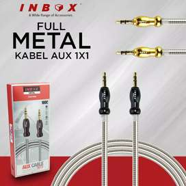 GROSIRAN NEW KABEL AUX/AUDIO/JACK INBOX 1x1 FULL METAL