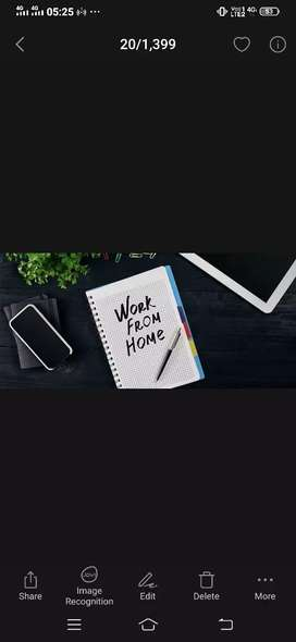 Simple typing work form home with daily payment