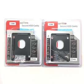 "N E W HDD CADDY 9.5/12.7mm SATA 2.5"" Universal untuk Laptop/Notebook"