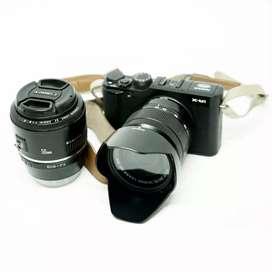 Kamera Mirrorless Fuji X-M1 FULL SET (Banyak Bonus)