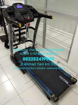 Ready treadmill elektrik yang empuk digunakan, 2hp auto incline