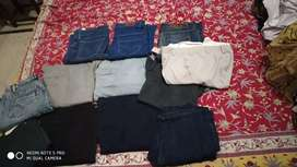 Set of jeans and trousers ( 300 per piece ) 300×12= 3600