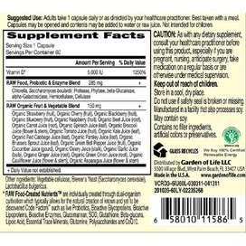 Garden of Life, Vitamin Code, RAW D3, 5,000 IU, Vegetarian Capsules