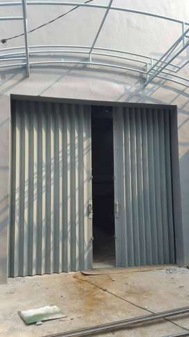 Folding gate rolling door harmonika banyak warna
