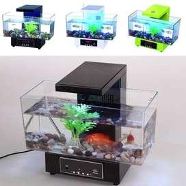 Desktop USB Mini Aquarium Mini Akuarium Fish Tank USB Tipe 2013-D
