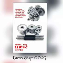 Dumbell Set Chrome Barbel 20 Kg // Zouleree QL 11N16