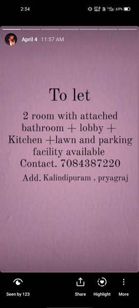 Room and parking facility available
