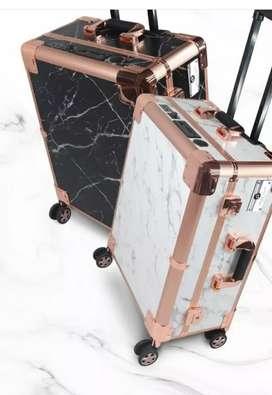 Beauty case basic marble black