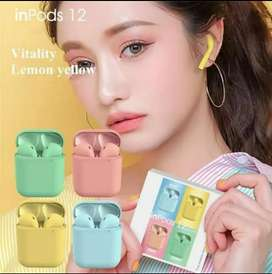 Headset Handsfree Bluetooth Tws i12 Wireless Airpod V 5.0