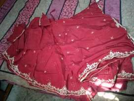Red colour lehnga