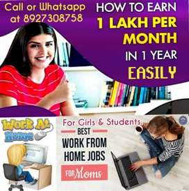 Work From Home. Career Oriented Opportunity.