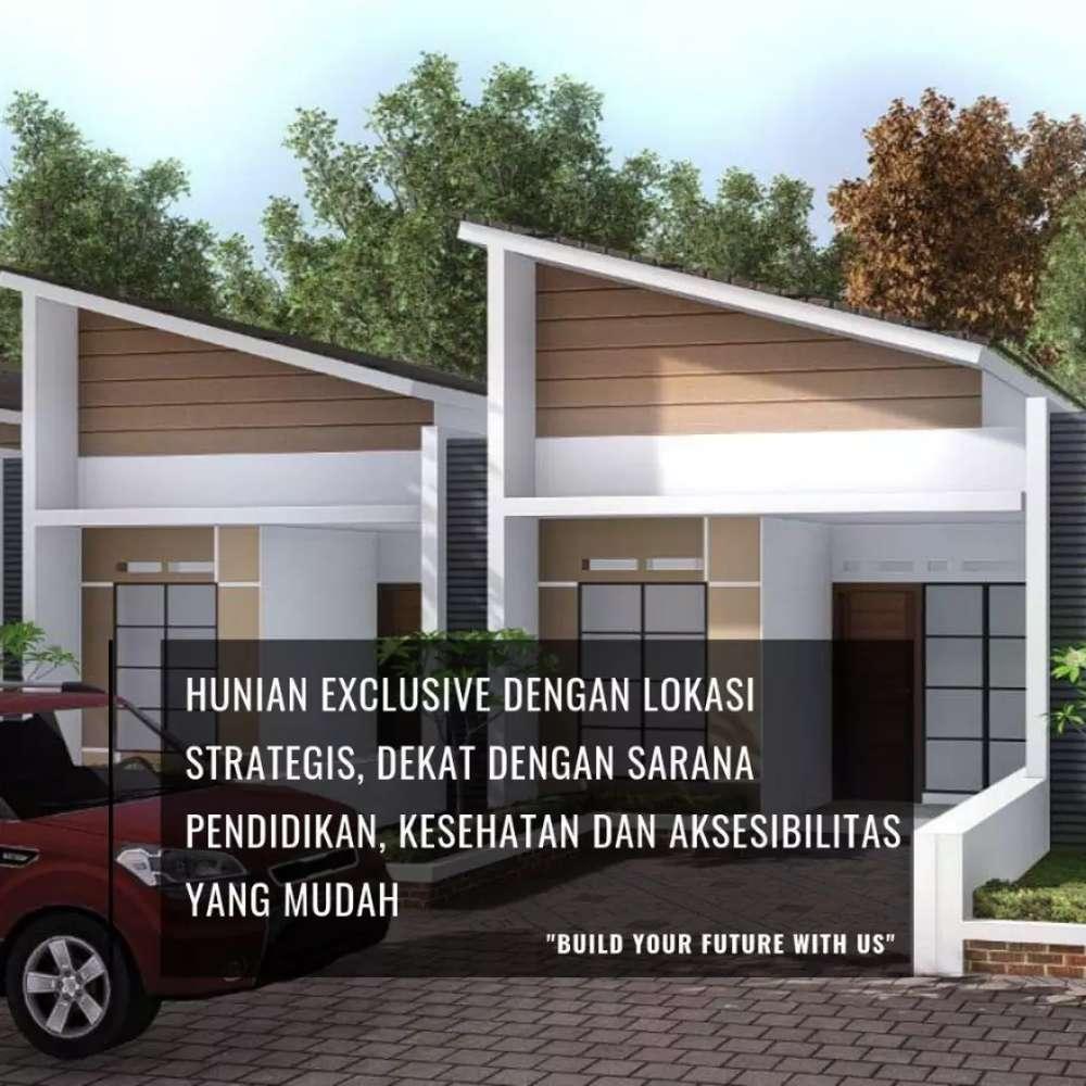 rumah baru desain modern akses tol baros di cihanjuang bandung