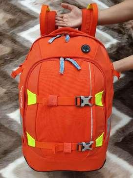 Tas import eks SATCH ERGOBAG backpack orange kanvas tebal keren
