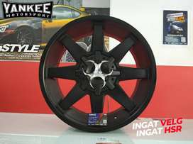 Velg Mobil FORD EVEREST Ring 20 Model Terbaru HSR BIG HORN Black