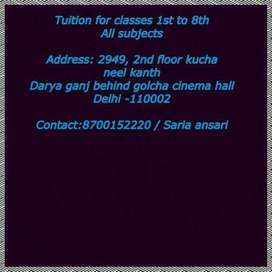 i give tuition classes upto 8th class at my home