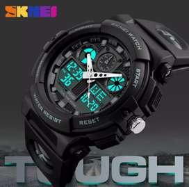 SKMEI Jam Tangan Analog Digital Pria AD1270 - Black/Blue