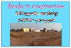 READY TO CONSTRUCTION PLOT IN MAHESHWARAM.