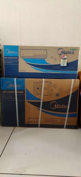 New Midea 1 Ton 3star split ac seal pack box with bill and warranty
