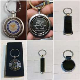 Promotional double side Metal Keychains with laser Name