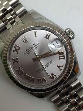Rolex Boysize Silver Romawi