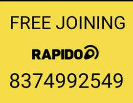 RAPIDO JOIN FREE IN BIKE/DAILY PAYMENT EXTRA INCENTIVES