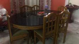 Sofa 13000/- rs  and Dining table  1000/-rs for sale