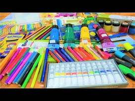 Stationary - water Colour Pad - Acrylic Colours - Posters Colours