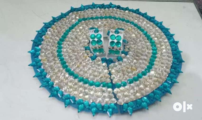 beautiful ladoo gopal ji stone dress 0