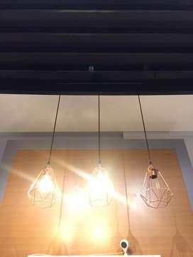 lampu gantung pendant light hias interior unik bohlam klasik