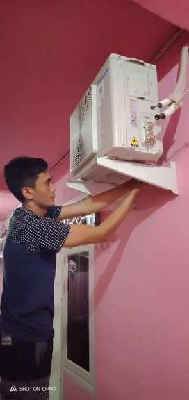 Jasa service ac, bongkar pasang ac, cuci + freon